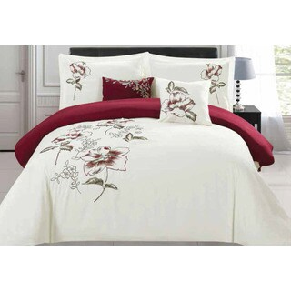 Sinclair Embroidered 5-piece Comforter Set
