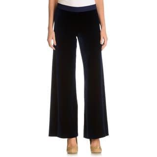 Joan Vass Women's Solid Velvet Pants