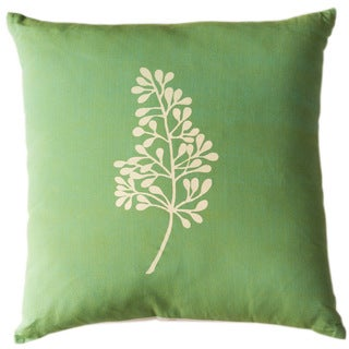 Botanical Kiwi Large Throw Pillow