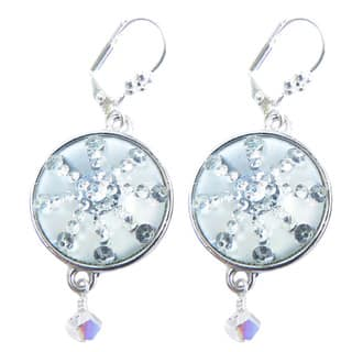 Palmtree Gems 'Silver Bells' Snowflake Dangle Earrings|https://ak1.ostkcdn.com/images/products/10700636/P17761487.jpg?impolicy=medium