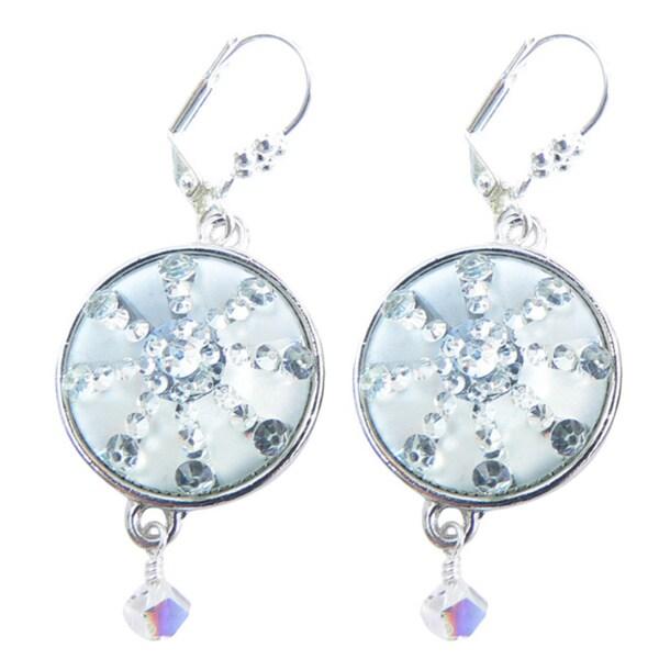 c8b7c5dee Shop Palmtree Gems 'Silver Bells' Snowflake Dangle Earrings - Free Shipping  On Orders Over $45 - Overstock - 10700636