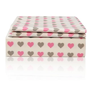 Hearts Egyptian Cotton Sheet Set