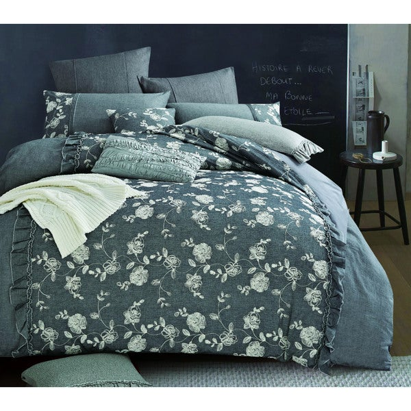 Egyptian Cotton Floral 5-piece Comforter Set