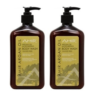 Amir Argan Oil Moisturizing 18-ounce Body Wash (Pack of 2)