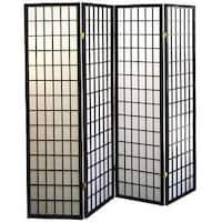 Shoji Style Room Divider with Wood Frame