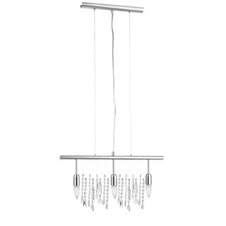 Eglo VITORIA 3-light 60-watt Multi Light Pendant with Chrome Finish and Crystal Strands
