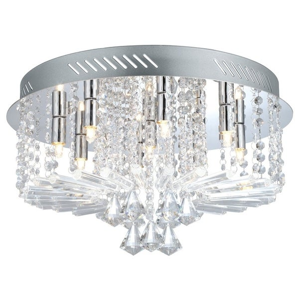 Eglo Ornella 9-light 40-watt Ceiling Light with Chrome Finish and Clear Crystal Strands