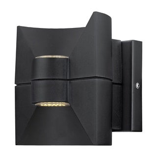 Eglo Redondo 2-light 2.5W LED Outdoor Wall Light with Matte Black Finish