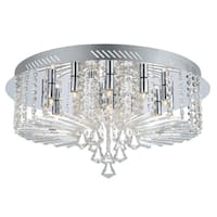 Eglo Ornella 12-light 25W Ceiling Light with Crome Finish and Clear Crystal Strands