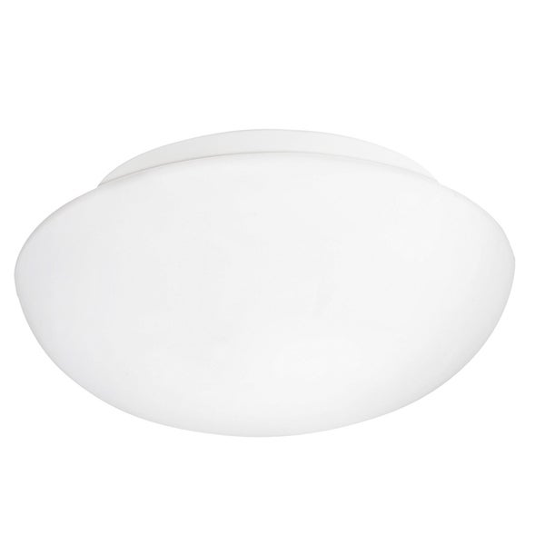 Eglo Ella 1-light 60-watt Ceiling Light with White Finish and White Glass