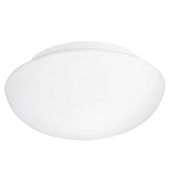 Eglo Ella 1-light Ceiling Light with White Finish and White Glass