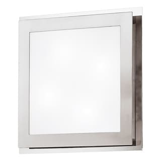 Eglo Eos 4-light 40-watt Ceiling Light with Matte Nickel and Chrome Finish and Satin Glass