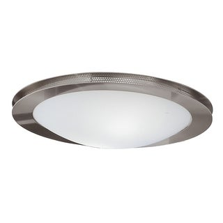 Eglo Sirio 2-light 60-watt Ceiling Light with Matte Nickel Finish and Satin Glass