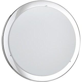 Eglo Planet 2-light 60-watt Ceiling Light with Chrome Finish and Satin Glass