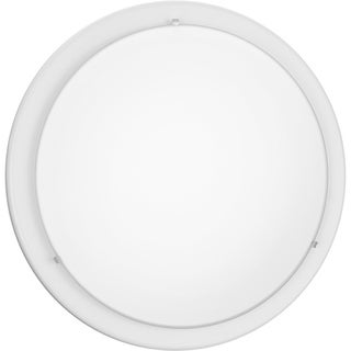 Eglo Planet 2-light 60-watt Ceiling Light with White Finish and Satin Glass