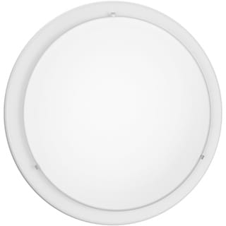 Eglo Planet 1-light 100-watt Ceiling Light with White Finish and Satin Glass