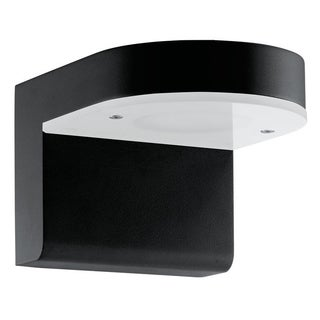 Eglo Jalon 2-light 12.5 LED Outdoor Wall Light with Black Ginihs and White Glass