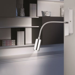 Eglo Lire 1-light 5W LED Gooseneck Wall Light with Chrome Finish