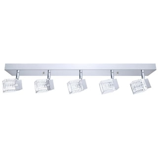 eglo Quarto 5-light 5W LED Wall/ Ceiling Light with Chrome Finish and Clear Glass