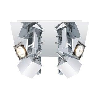 Eglo Mano 4-light 50-watt Square Ceiling Track Light with Chrome Finish