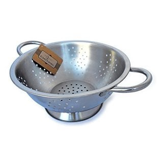 Culina 3-quart Stainless Steel Colander Punched Hole with Handles
