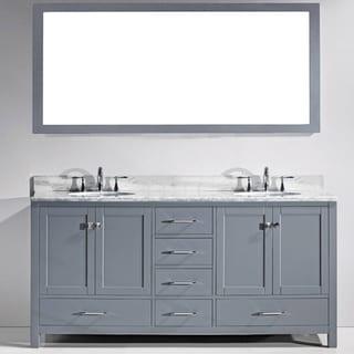 72 in vanity double sink. virtu usa caroline avenue 72-inch white marble double bathroom vanity set 72 in sink