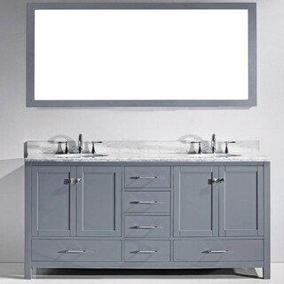 Marvelous Virtu USA Caroline Avenue 72 Inch White Marble Double Bathroom Vanity Set