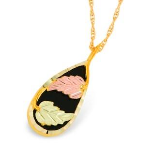 Black Hills Gold Onyx Pendant