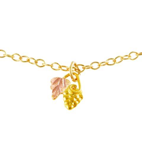 Black HIlls Gold Grape and Leaf Pendant
