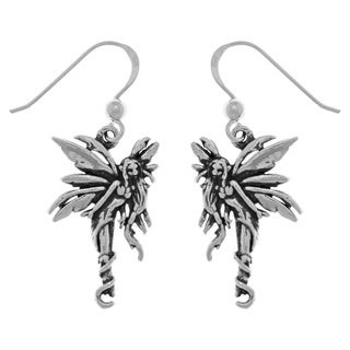 Carolina Glamour Collection Sterling Silver Firefly Fairy Dangle Earrings