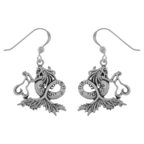 Sterling Silver Sea Mermaid Dangle Earrings