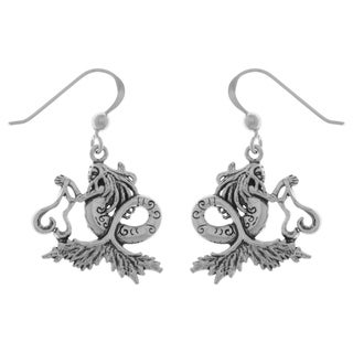 Carolina Glamour Collection Sterling Silver Sea Mermaid Dangle Earrings