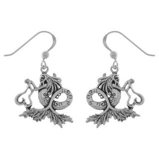 Sterling Silver Sea Mermaid Dangle Earrings
