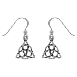 Carolina Glamour Collection Sterling Silver Celtic Triquetra Circle of Life Dangle Earrings