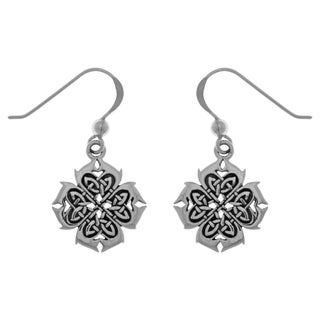 Carolina Glamour Collection Sterling Silver Celtic Knotwork Cross of Inspiration Dangle Earrings