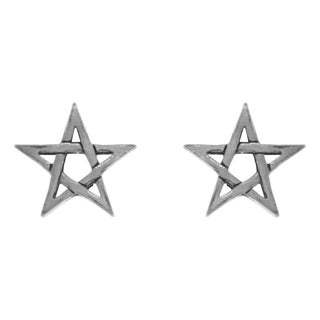 Carolina Glamour Collection Sterling Silver Five Point Star Stud Post Earrings