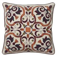 Rizzy Home 18-inch Embroidered Throw Pillow