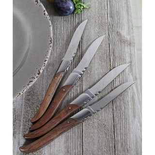 French Home Laguiole Connoisseur Rosewood Steak Knives (Set of 4)