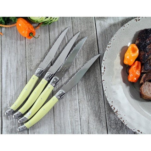 French Home Laguiole Faux Ivory Steak Knives (Set of 4)