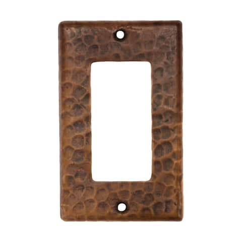 Handmade Copper Single Switchplate Cover, Set of 2 (Mexico)