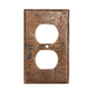 Premier Copper Products Copper Switchplate Single Duplex 2 Hole Outlet Cover (Set of 2)