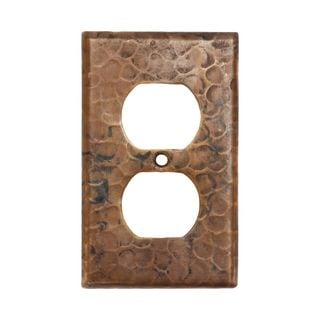 Premier Copper Products Copper Switchplate Single Duplex 2 Hole Outlet Cover (Set of 4)
