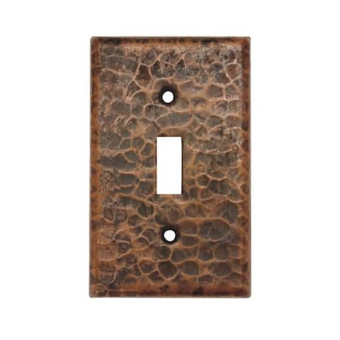 Handmade Copper Switchplate Single Toggle Switch Cover, Set of 4 (Mexico)