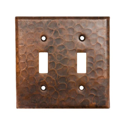 Premier Copper Products Copper Switchplate Double Toggle Switch Cover (Set of 2)