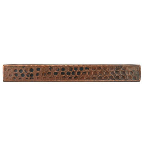 """Handmade Hammered Copper Tile, Set of 8 - 1"""" x 8"""" (Mexico)"""
