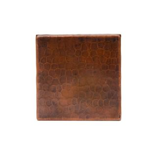 Premier Copper Products 4-inch x 4-inch Hammered Copper Tile (Set of 4)