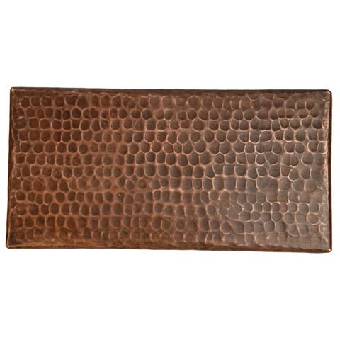 """Handmade Hammered Copper Tile, Set of 4- 4"""" x 8"""" (Mexico)"""