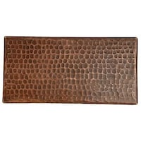 Premier Copper Products 4 Inch X 8 Hammered Tile Set Of