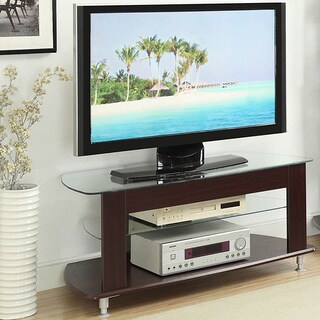 Glass Top TV Entertainment Stand