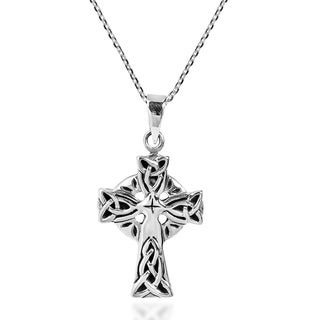 Celtic Triquetra Knot Cross .925 Sterling Silver Necklace (Thailand)